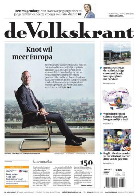 Portret van Klaas Knot , DNB President,