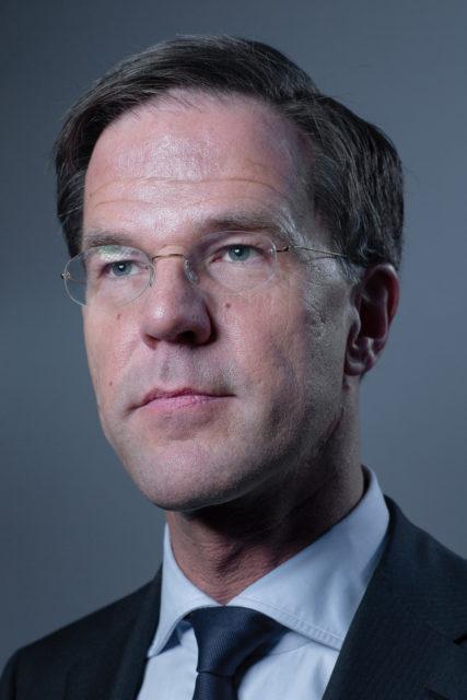 Nederland, Amsterdam, 14-02-2017 Mark Rutte, VVD Lijsstrekker en premier.