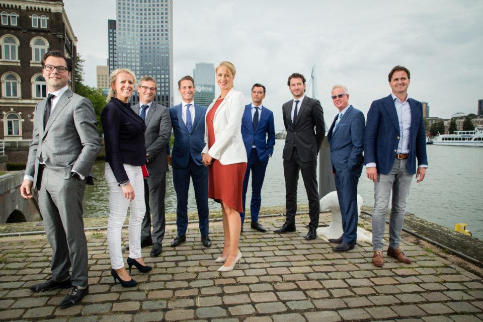 Nederland, Rotterdam, 10-08-2017Groepsportret vastgoed specialisten voor PropertyNL